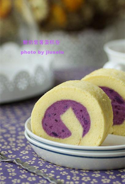 酸奶紫薯蛋糕卷