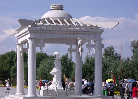 昭君汉白玉雕像