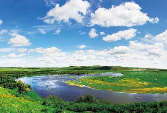 抻直后长度超过黄河10倍的莫日格勒河。