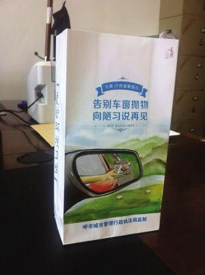 车内置物袋 首席记者叶涛 摄