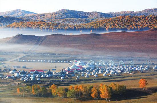 蒙古包聚成了村落