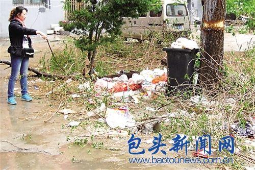 小区垃圾无人清理