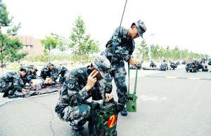 内蒙古预备役师对编组举行通信应急演练