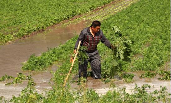 内蒙古赤峰遭洪涝灾害