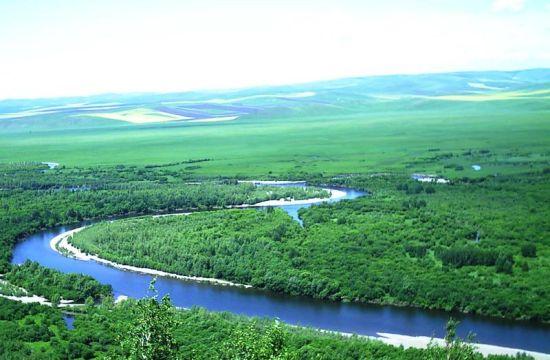 根河湿地远景