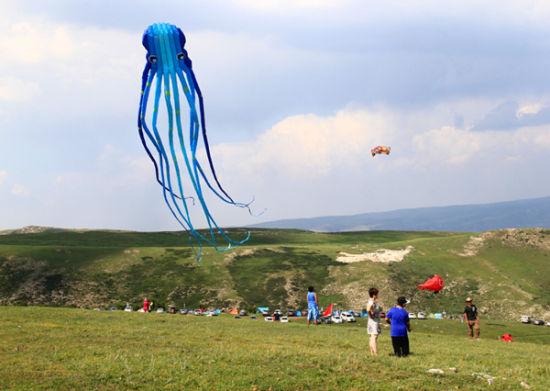 放飞大型软体风筝