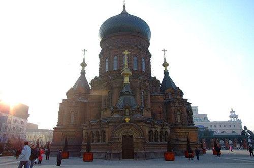 速写复古欧式教堂
