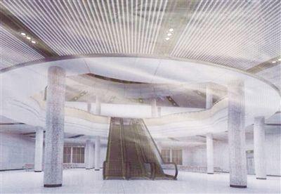 火车站进站大厅改造后效果图