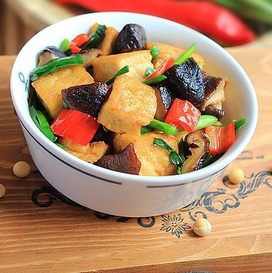 蚝汁脆皮豆腐