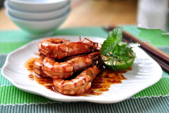 烧汁大虾:简单精彩的节日大菜 过节必备菜图片