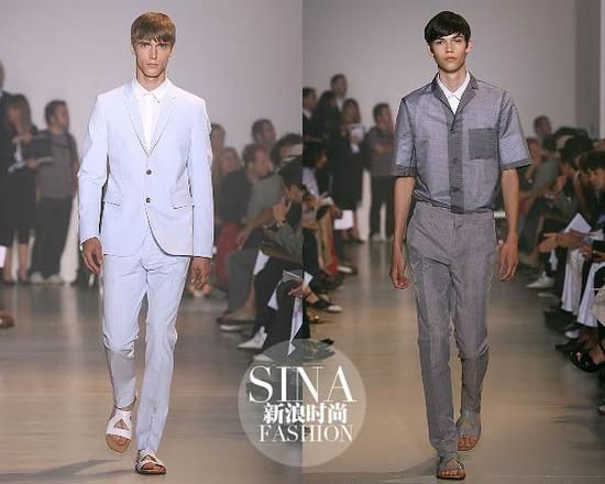 Raf Simons为Jil Sander品牌设计的2008春夏男装系列