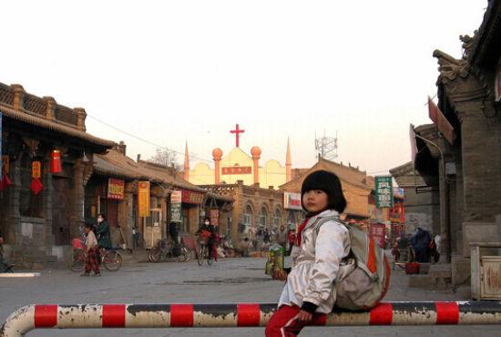 新浪旅游配图:塞上老街