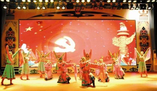 库伦旗百名民族文化传承人与民间艺人欢聚一堂,共庆2015年元旦佳节