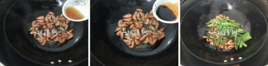 蕴含春天气息的韭菜河虾