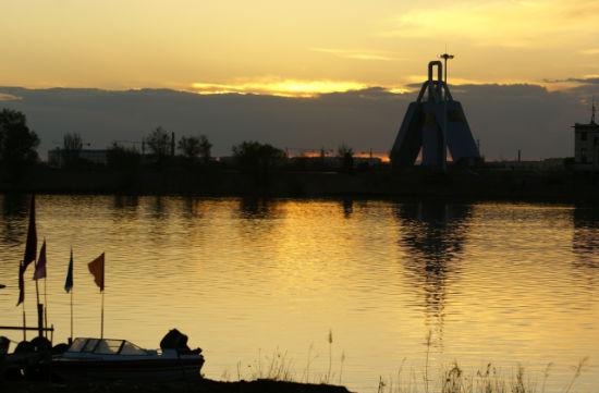 夕阳老牛湾