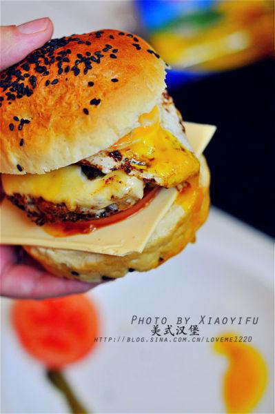 爆浆美式汉堡