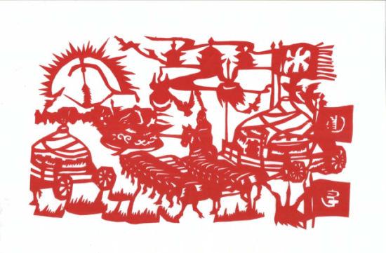 象标记 蒙古族剪纸
