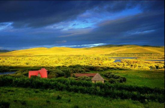 风雨欲来的草原