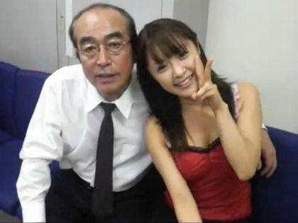 Mihiro(右)与志村健相差32岁,曾爆出父女恋