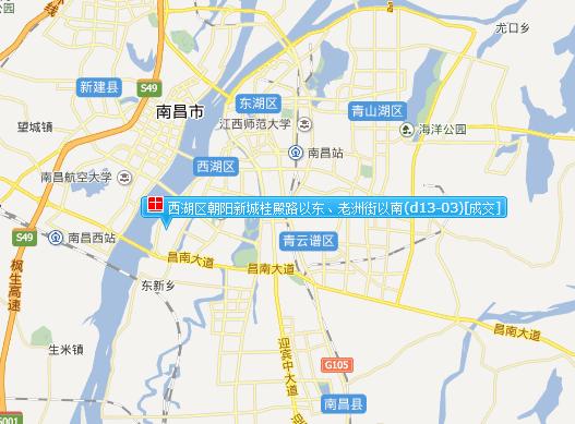 西北方向为南昌航空大学,南昌大学前湖校区,往东一定距离即是南昌动物