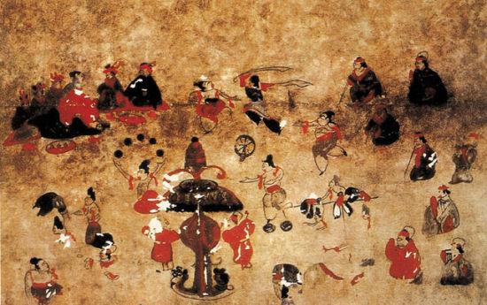 和林格尔汉墓壁画 新浪内蒙古旅游 新浪内蒙古