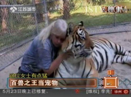女汉子养老虎当宠物