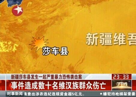 新疆莎车县发生暴恐案 数十暴徒被击毙